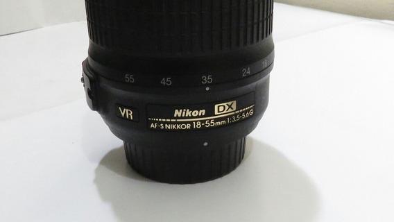 Lente Nikon Af-s 18-55mm - F 3,5 - 5,6 G Dx Muito Nova.