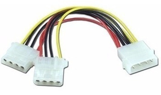 Cable Power Molex 4pin Macho A 2xmolex 4pin Hembra
