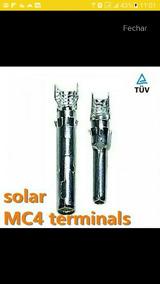 100 Conectores Mc4 Só A Parte Metálica Macho (fino)