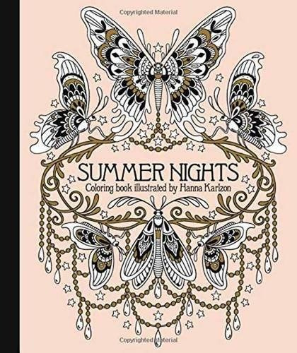 Summer Nights Coloring Book By Hanna Karlzon - Livro Colorir