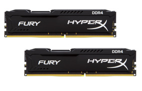 Memória 16gb ( 8gb X 2 ) Ddr4 3200mhz Kingston Hyperx Fury