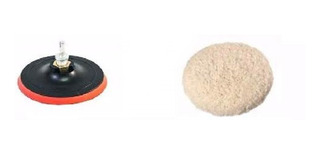 Kit Polimento Adaptador+ Disco 125mm Furadeira C/1 Boinas Lã