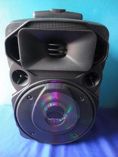 Bafle Activo Winco,microfono,luces Ritmicas,sd,usb Portatil