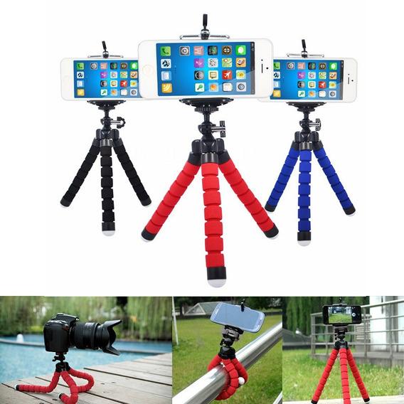 Mini Tripé Flexível Celulares Câmera Gopro Kit 5 Unidades