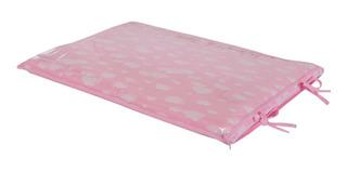 Trocador De Comoda Para Bebê Rosa Nuvens Céu Rosa 05 Cm