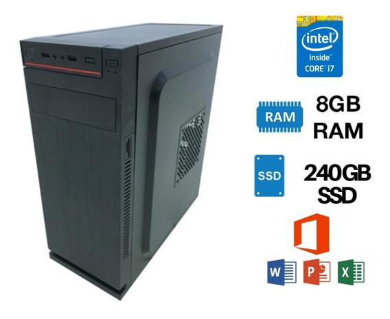 Pc Cpu Core I7 Ssd240gb 8gb Win10