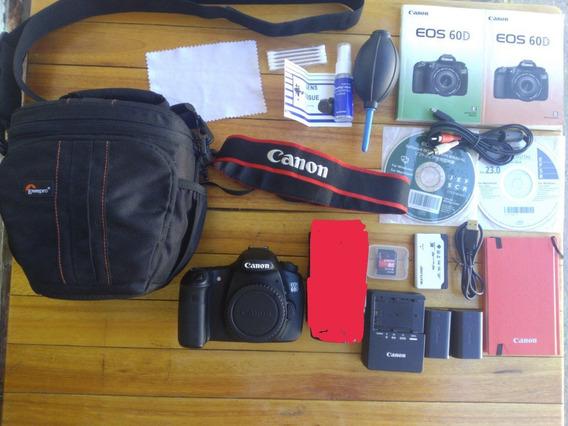 Canon 60d (corpo) + Acessórios