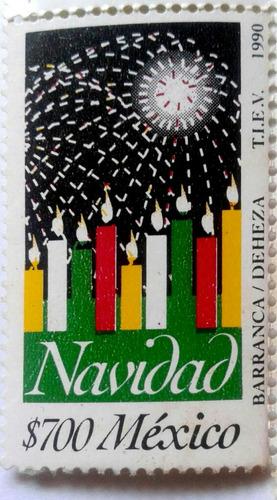 Imagen 1 de 3 de Timbres Postales Mexico Navidad 1990