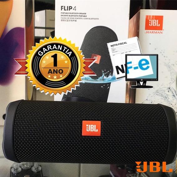Caixa Portatil Jbl Flip 4 Original Prova D´água Bluetooth