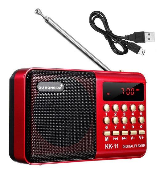 K11 Old Mini Radio Mp3 Old Card Multi-função Gravador De Rád