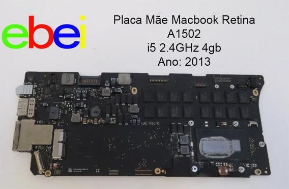 Placa Mãe Macbook Retina A1502 I5 2.4 4gb 2013 820-3476-a Pronta Entrega Rio Acima Mg Brasil