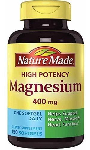 Magnecio Nature Made Magnesio Extr - Unidad a $1418