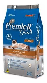 Premier Gatos Castrados 7 Anos Amb. Internos Salmão 7.5kg