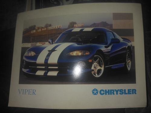 Viper Chrysler Folhetos De Venda