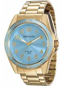 Relógio Seculus Fem 28732lpsgda4 Dourado Novo De 259 Por 159