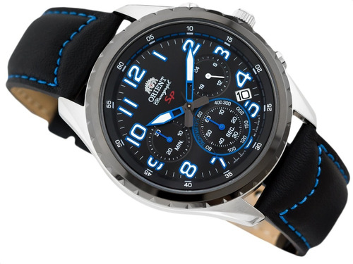Reloj Orient Cuero Hombre Fkv01004b0 Original
