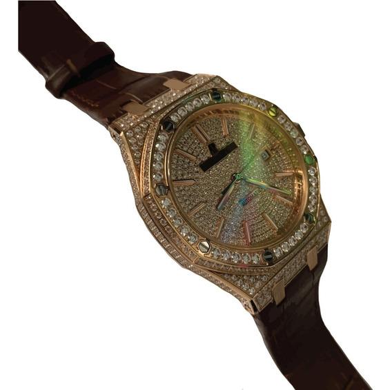 Reloj Audemars Piguet Royal Oak Cristales Automatico Piel