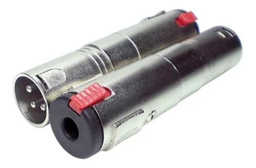 Imagem 1 de 6 de Plug Adaptador Star Cable Xlr  M  - Jack J10 Mono C/ Trava