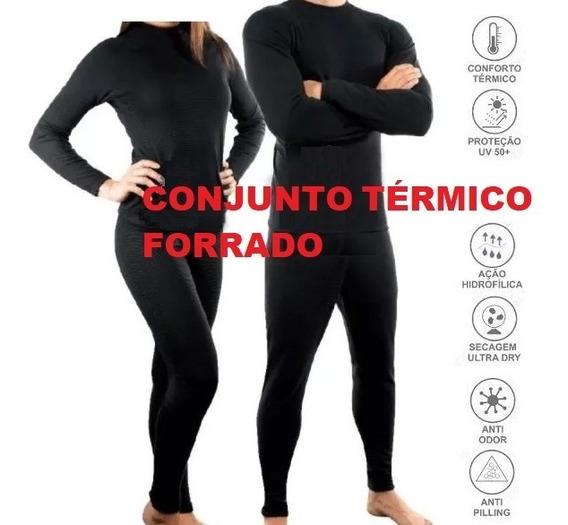 Conjunto Térmico Calça Termica + Blusa Termica + Meia Brinde