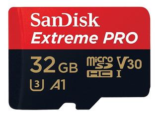 Sandisk Extreme Pro Micro Sdhc 4k 32gb Camera Gopro Hero 6