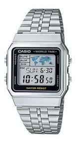 Relógio Casio Vintage Unissex A500wa-1df Prata Nota Fiscal