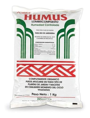 Humus De Lombriz Forza 1 Kg Abono Organico Lombricompuesto