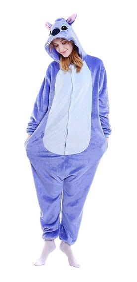 Pijama Kigurumi Stitch Importado Azul Rosa Nene Nena Adulto
