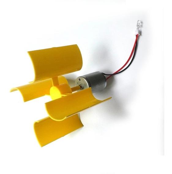 2 Mini Gerador Eolico 5,5v Para Trabalhos Escolares