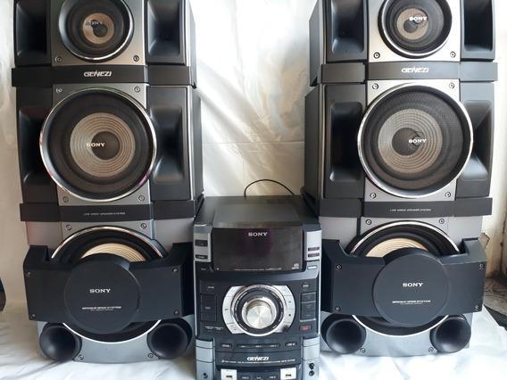 Aparelho De Som Sony Genezi Modelo Mhc Gtr88 Com 6 Caixas