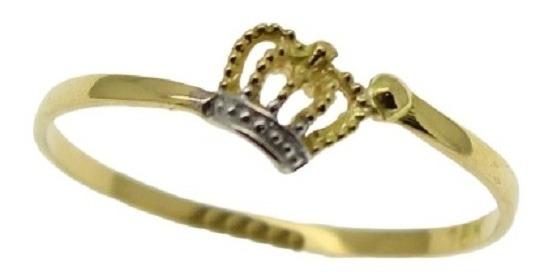 Anel Falange Coroa Ouro 18k Jsp0544