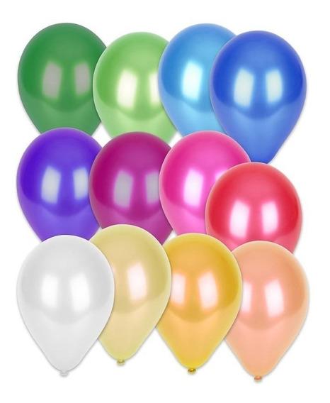 Globo Perlado 9p X 50 Unidades Varios Colores - Luico Hogar