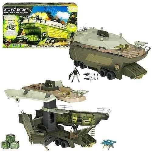 Gi Joe Veiculo Base Pit Mobile Headquarters Novo Coleção