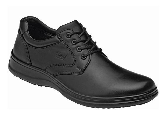 Calzado Hombre Caballero Zapato Casual Flexi En Piel Negro