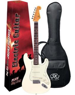 Guitarra Sx Stratocaster Vintage Estilo Fender C/ Bag Sst62