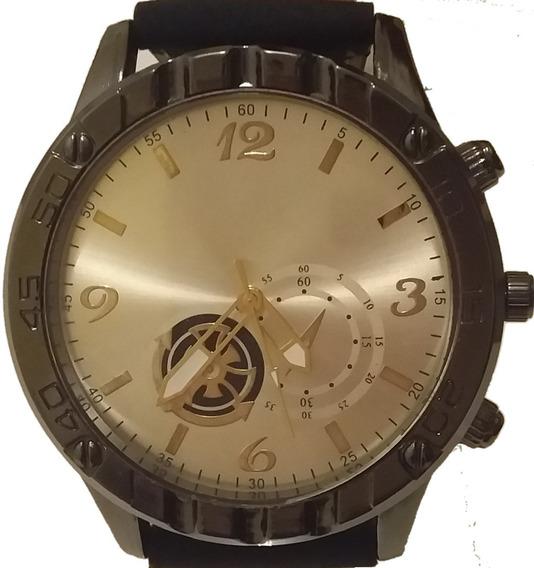 Relógio Masculino Militar Esportivo Stainless Pulseira Couro