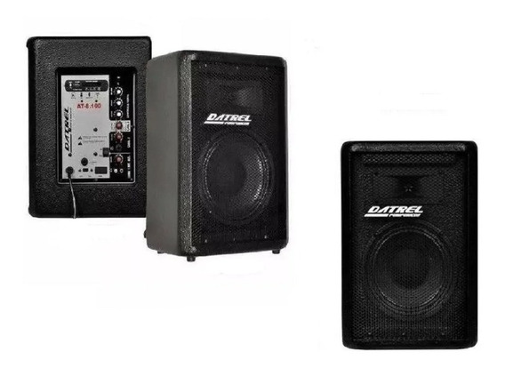 Kit Caixa Som Ativa Af 8 Bluetooth/usb/sd/fm 100w + Passiva Novas Envio Imediato Full + Brinde Cabo P10/p10 5 Mts