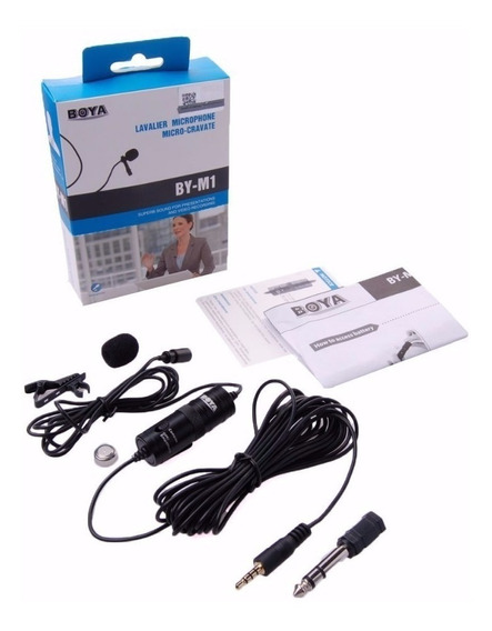 Boya Microfone Lapela By-m1 M1 P/ Smartphone, iPhone Cabo 6m