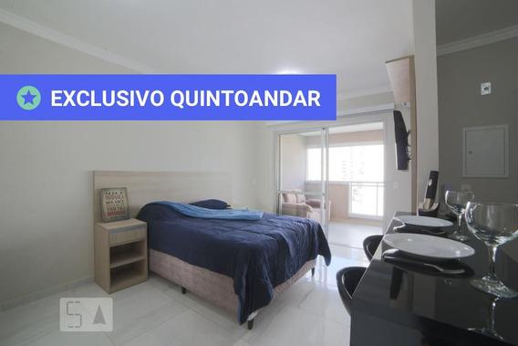 Studio No 10º Andar Mobiliado Com 1 Dormitório E 1 Garagem - Id: 892986338 - 286338