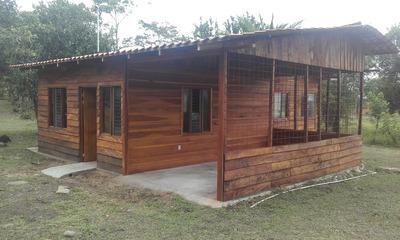 Casa Nueva Tipo Cabaña De Madera En Bellavista De Guápiles