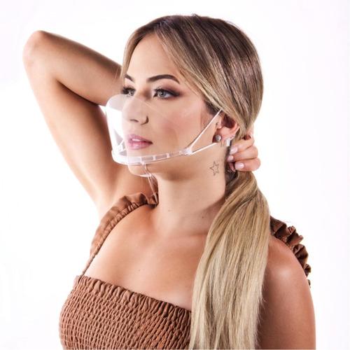 Máscara Acrílica Higiênica Transparente