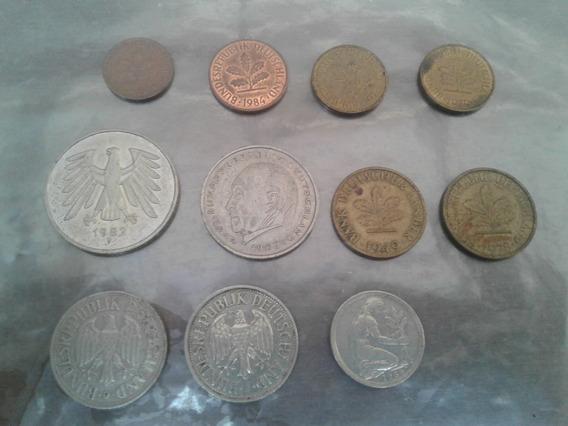 Lote De Monedas Antiguas Alemania 17 Unidades