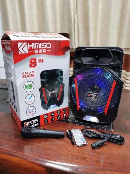 Caixa De Som Com Microfone E Controle Bluetooth Kimoso Qs816