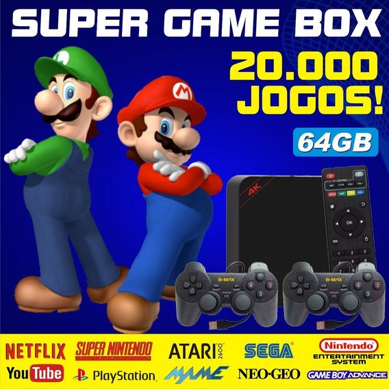 Super Game Box - Video Game Retro Com Jogos Antigos 64gb