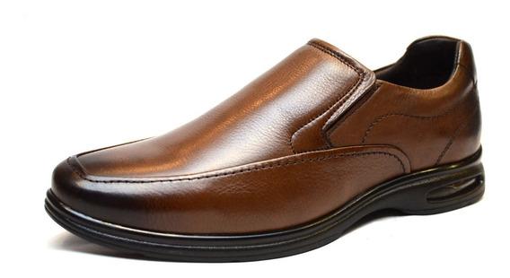 Zapato De Cuero Democrata Hombre Air Slim Mocasín 051108