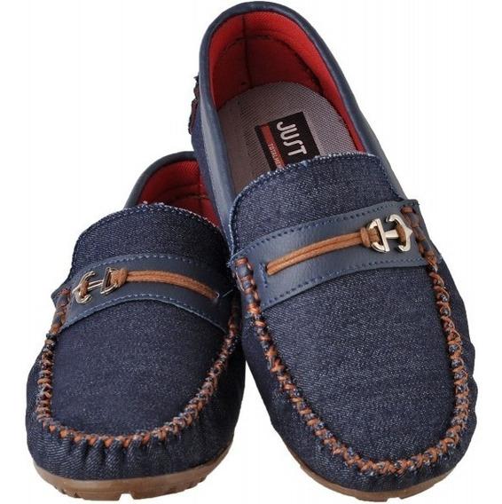 Mocassim Infantil Just Walk 425 Jeans Caramelo