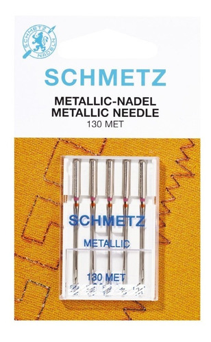 Imagen 1 de 1 de Agujas Schmetz Metallic Para Máquina Familiar