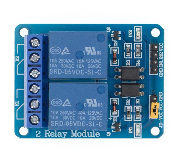 Módulo Rele 2 Canais 5v 10a Arduino Pic Raspberry Automação