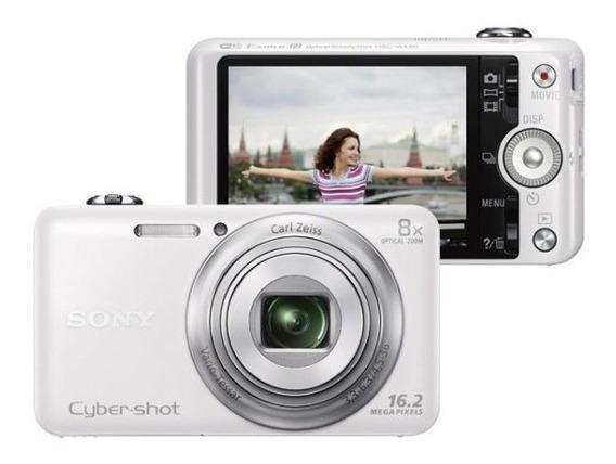 Câmera Sony Cyber-shot Branca -semi-nova + Cartão + 2 Bolsas