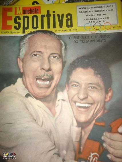 Manchete Esportiva Nº 22 1956 Bloch Editora Poster Seleção