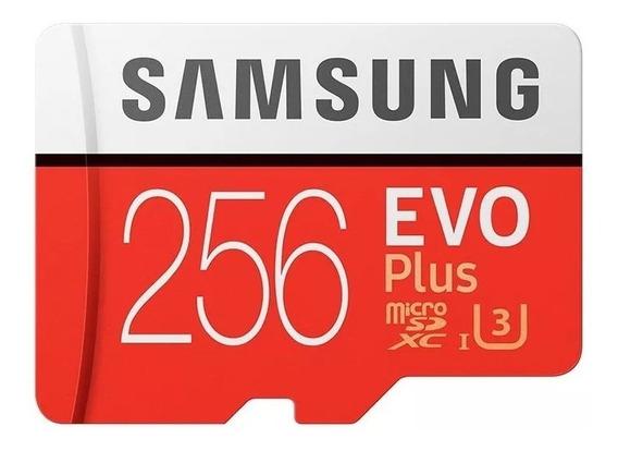 Cartao Samsung Micro Sdxc Evo Plus 4k 100mb/s 256gb